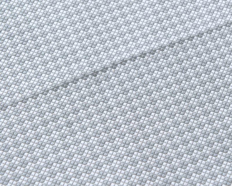 画像1: GIORGIO ARMANI ポケットチーフ ピュアシルク製 「シルバー柄入り」 冠婚葬祭 (1)