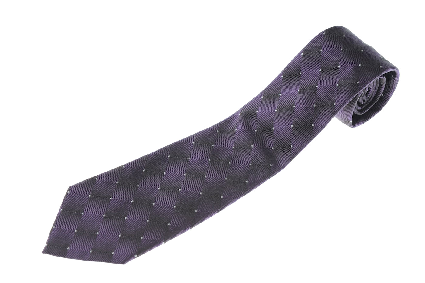 画像1: アルマーニコレツィオーニ ネクタイ 紫 (1)