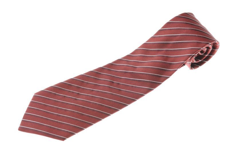 画像1: アルマーニコレツィオーニ ネクタイ 赤ストライプ (1)