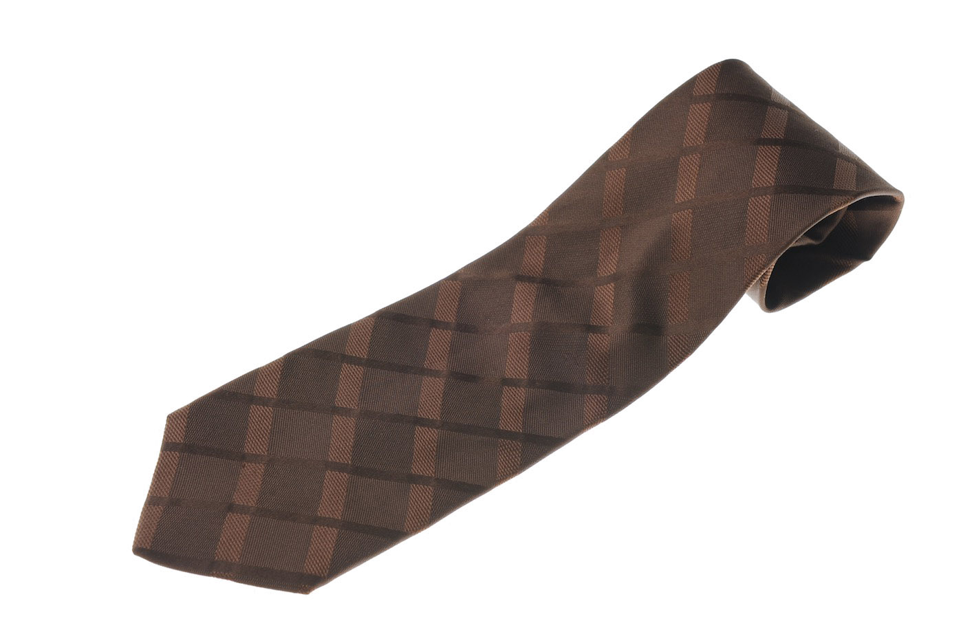 画像1: ジョルジオアルマーニ 「黒ラベル」 ネクタイ 茶色 (1)