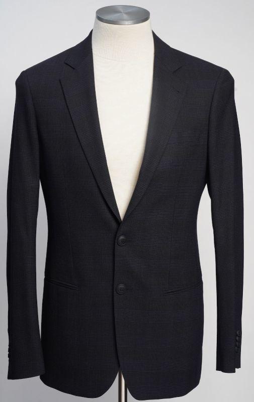 画像1: ジョルジオアルマーニ黒ラベル ウール「SOHOモデル」チェック柄スーツ(48L/50L)A/W (1)