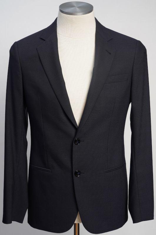 画像1: ジョルジオアルマーニ黒ラベル ウール 「SOHOモデル」濃紺無地スーツ(48)A/W (1)