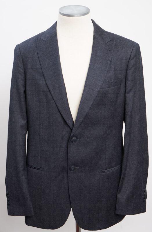 画像1: ジョルジオアルマーニ黒ラベル ウール 「SOHOモデル」チェック柄スーツ(56)A/W (1)