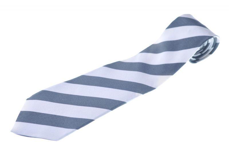 画像1: ジョルジオアルマーニ黒ラベル ネクタイ  ブロックストライプ オフホワイトxグリーングレー (1)