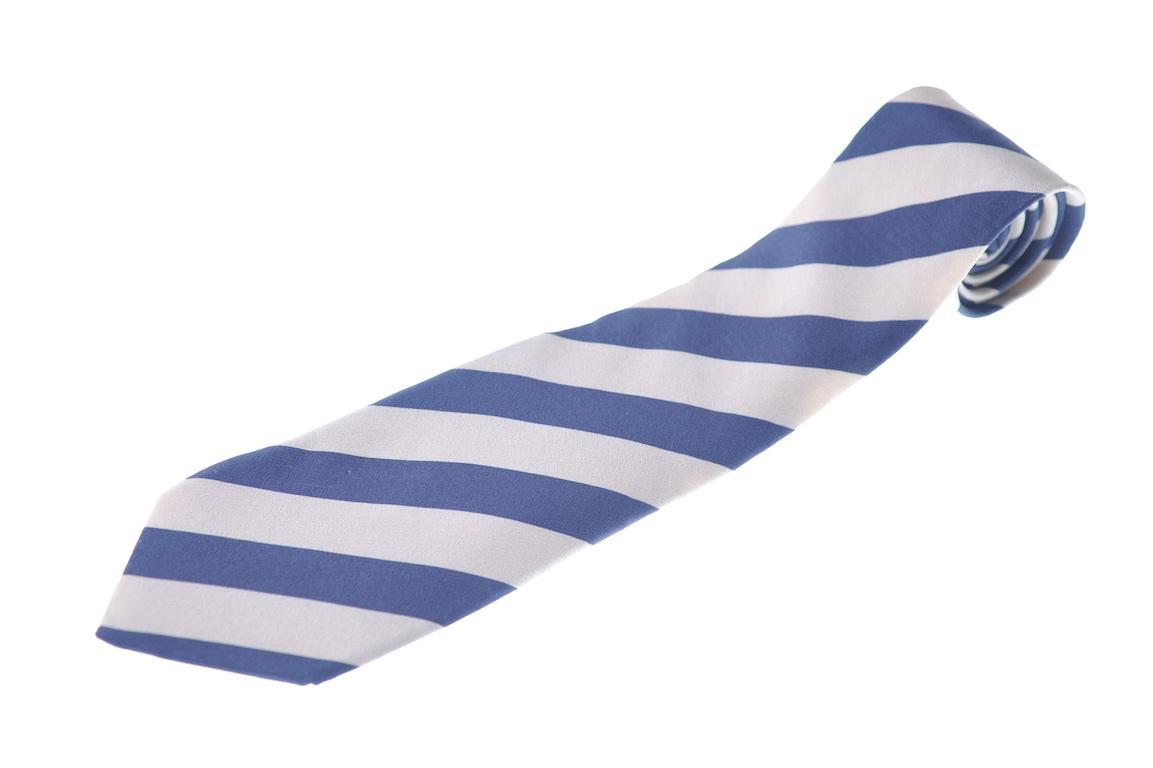 画像1: ジョルジオアルマーニ黒ラベル ネクタイ  ブロックストライプ 紺xゴールド コレクションモデル (1)