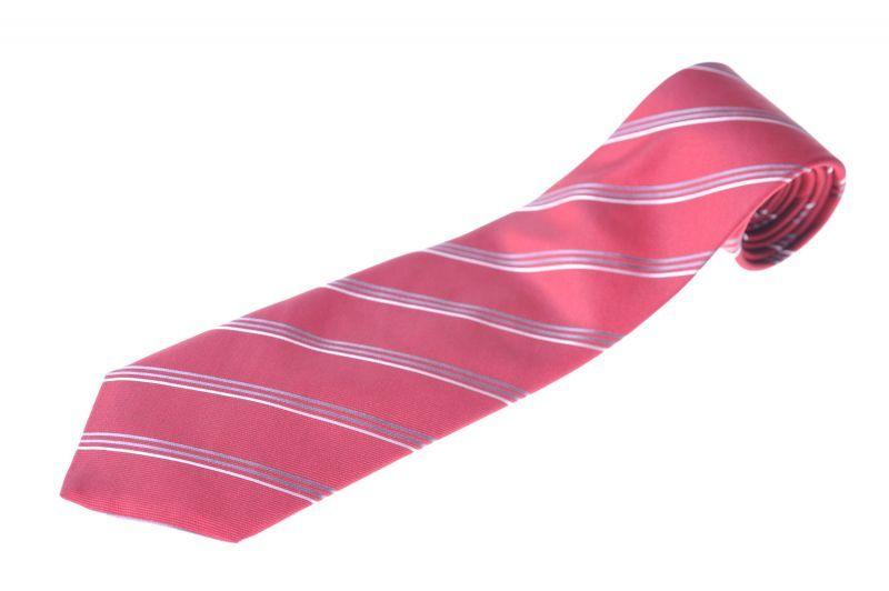 画像1: ジョルジオアルマーニ黒ラベル ネクタイ  赤 ストライプ (1)