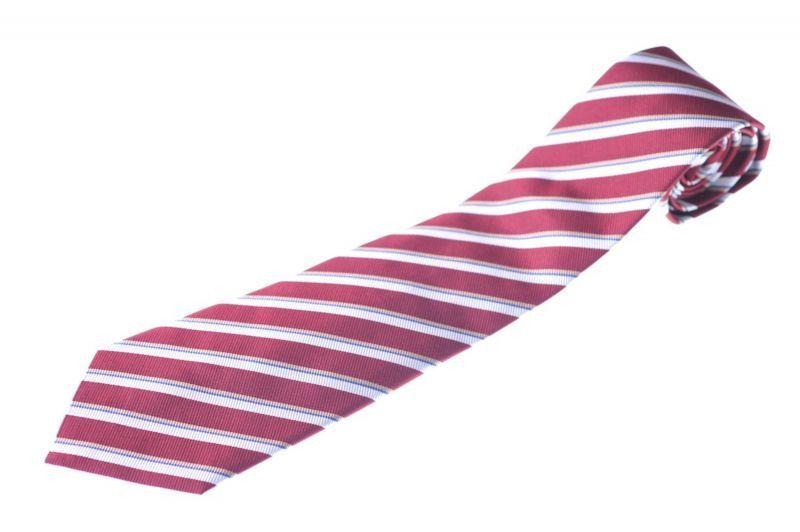 画像1: ジョルジオアルマーニ黒ラベル ネクタイ  赤 ダブルストライプ (1)