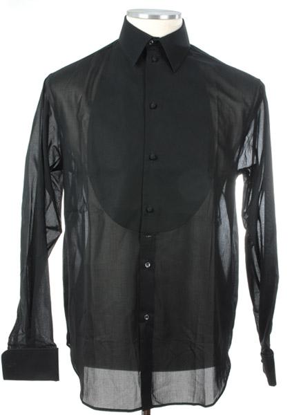 画像1: ジョルジオアルマーニ「黒ラベル」タキシードシャツ(40/41) 【国内発送】 (1)
