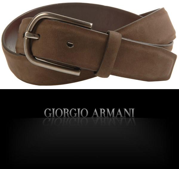画像1: ジョルジオアルマーニ黒ラベルの高級ベルト(60) (1)