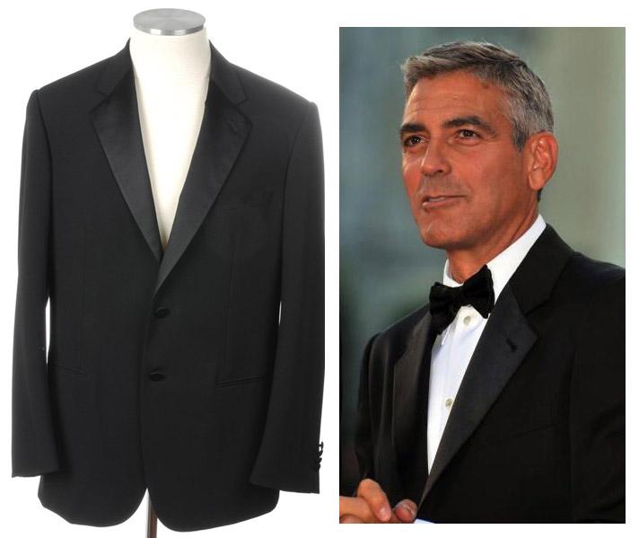 画像1: ジョルジオアルマーニ黒ラベルの極上タキシードスーツ(58) 冠婚葬祭 結婚式 (1)