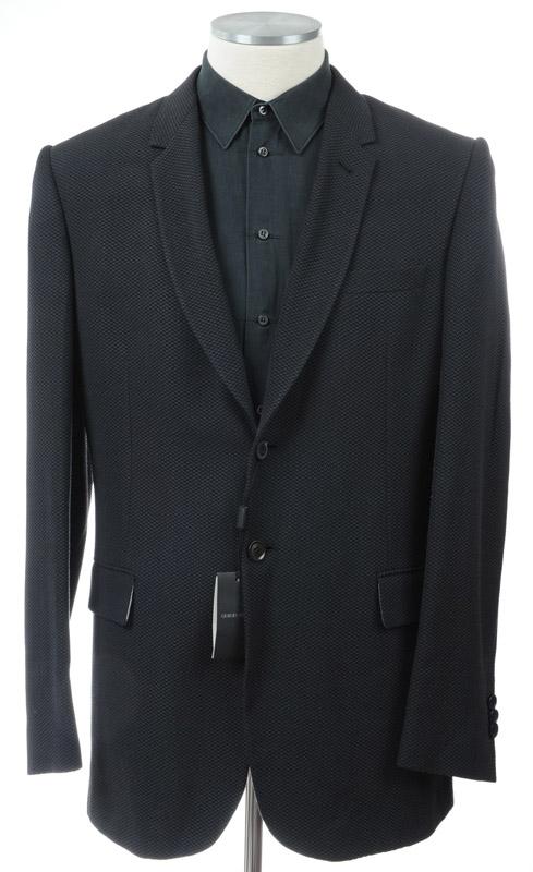 画像1: ジョルジオアルマーニ黒ラベルのジャケット(54)A/W 黒xグレー (1)