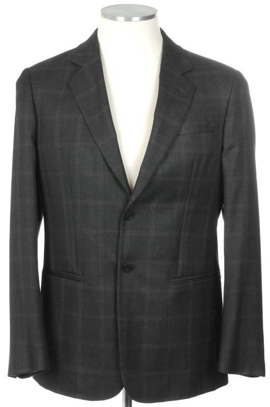 画像1: ジョルジオアルマーニ黒ラベルのジャケット/カシミアxシルク混紡/ダークチャコール(48/50)A/W 《《SALE》》 【国内発送】 (1)