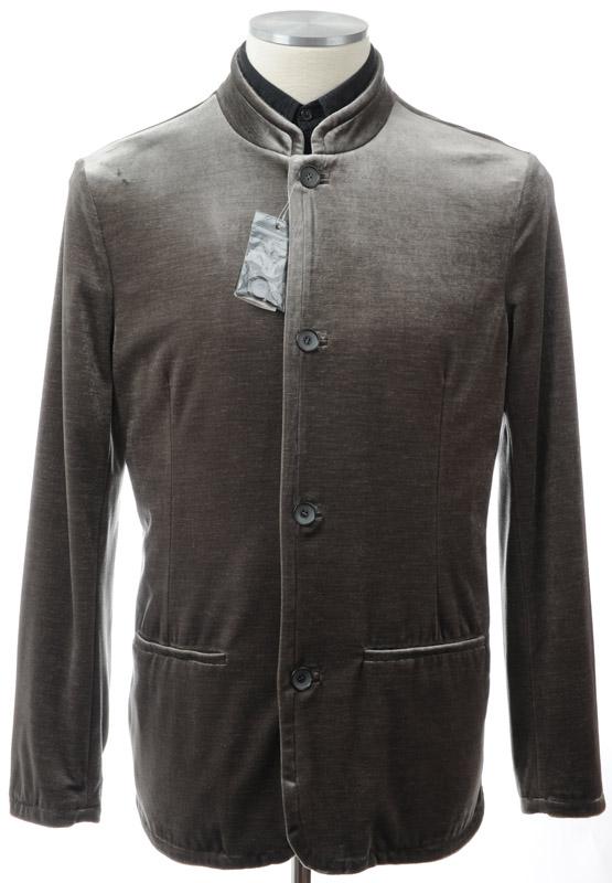 画像1: ジョルジオアルマーニ黒ラベルのベルベットジャケット(52,56)A/W 《《SALE》》 【国内発送】 (1)