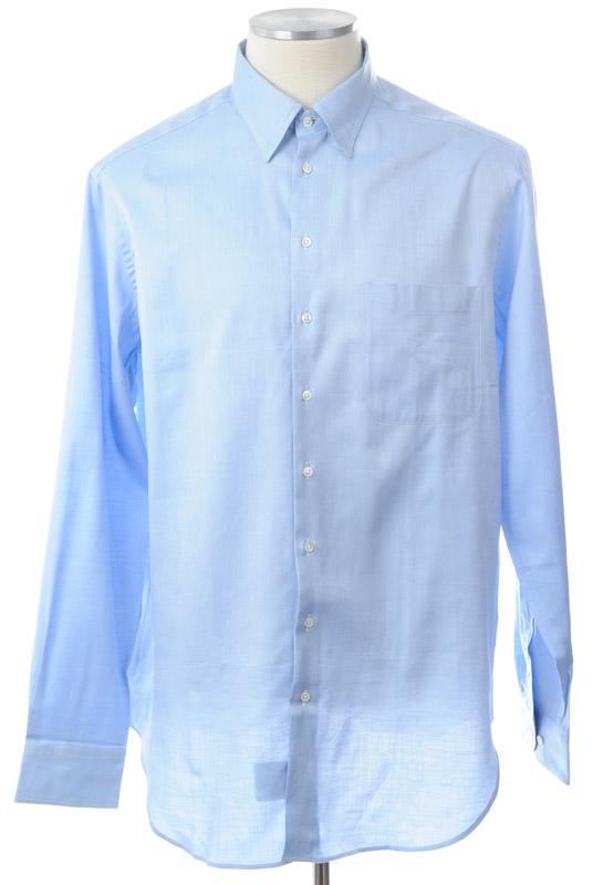 画像1: ジョルジオアルマーニ「黒ラベル」青いシャツ(43) 【国内発送】 (1)