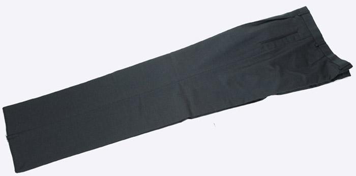 画像1: ジョルジオアルマーニ黒ラベル「カシミア混紡」グレイパンツ(48)A/W (1)