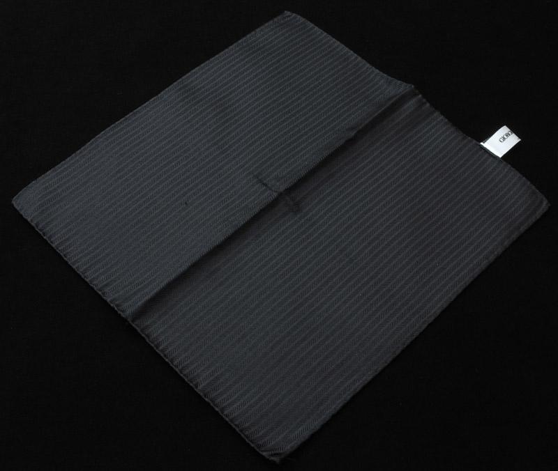 画像1: ジョルジオアルマーニ「ブラックヘリンボーン」ポケットチーフ (1)